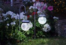 Solar Hanging Crackle Globe Garden Lights 2 pack