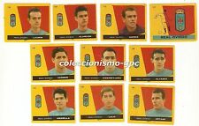 LOTE 10 CROMOS ANTIGUOS FUTBOL LIGA 1959-1960 REAL OVIEDO Football Cards Raros !