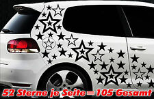 105 Sterne XXL Set Star Auto Aufkleber Sticker Tuning Stylin WandtattooTribel