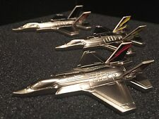 F-35 Joint Strike Fighter AF-01, BF-01 and CF-01 Diecast Challenge Coins