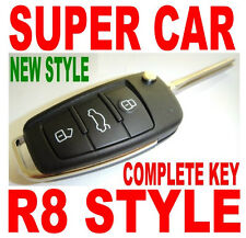 AUDI-R8 STYLE FLIP KEY REMOTE FOR 09-14 ACURA TL TSX ZDX CHIP KEYLESS ENTRY FOB