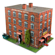 "1:87 HO Scale ""Hotel"" Photo Real Scale Building Kit Track Accessories Model Sets"