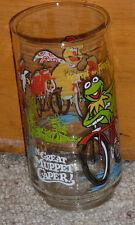 1981 VINTAGE MCDONALDS - THE GREAT MUPPET CAPER - KERMIT THE FROG -GLASS