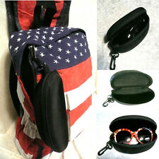 New Portable Zipper Sunglasses Case Eye Glasses Clam Shell Protector Hard Pouch
