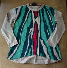 New Authentic Fendi Girl's Gray Exotic Print Front Long Sleeve Shirt Top (6Y)