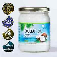 Organic RAW Unrefined Virgin Coconut Oil Skin Butter Hair Cooking 500 ml / 16 OZ