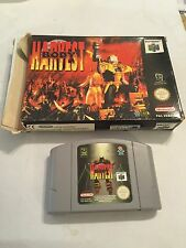 NINTENDO 64 N64 BODY HARVEST GAME CARTRIDGE +BOX PAL