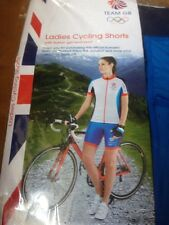 LADIES' TEAM GB CYCLING SHORTS LARGE  16-18 OLYMPICS
