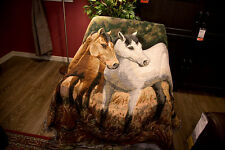 Horse Wall tapestry wild home decor blanket hanging countryside cotton cloth rug