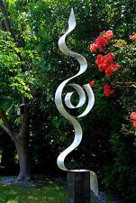 """Silver Abstract Indoor-Outdoor Metal Sculpture - """"Looking Forward"""" Jon Allen"""