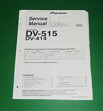 Original Pioneer DV-515 / DV-414 Service Manual