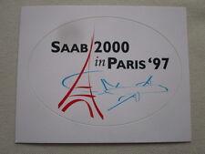 AUTOCOLLANT STICKER AUFKLEBER SAAB 2000 PARIS AIRSHOW LE BOURGET 1997 EIFFEL