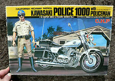 CALIFORNIA HIGHWAY PATROL KAWASAKI POLICE Z 1000 1/15 MODEL KIT UNION JAPAN