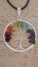 7 CHAKRA STONES TREE OF LIFE PENDENT AAA +++ For Balancing All Chakra Of Body