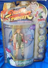 Street Fighter Cammy MIP Action Figure Resaurus Green Variant Round 1 Capcom