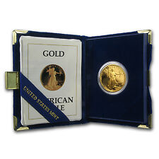 1987-P 1/2 oz Proof Gold American Eagle Coin - Box and Certificate - SKU #4914