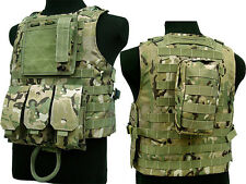 Military Army Tactical Paintball Molle Carrier Airsoft Assault Combat Vest CP
