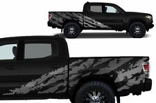Custom Vinyl Decal SHRED Wrap for 4D Short Bed 16-17 Toyota Tacoma TRD - Silver