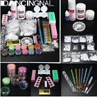 Acrylic Powder Liquid Brush Glitter Primer File Glue Nail Art Tips DIY Set Kit