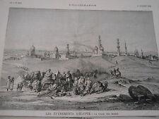 Gravure 1882 - Egypte La ville des Morts