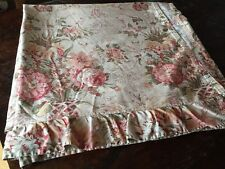 Vintage Ralph Lauren Home Guinevere Floral Flat King Sheet Ruffle Hem Border