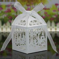 20pcs Wedding Favor Candy Boxes Gift Baby Shower Box Christmas Decor White