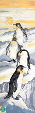 Cross Stitch Kit ~ Design Works Flock of 4 Penguins on Arctic Ice #DW2749