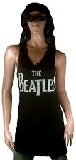 Amplified Official The Beatles Rock Star Vip TANK TOP MINI ABITO DRESS M/L 40
