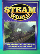 STEAM WORLD No.6 SEPTEMBER 1981   IRISH STEAM IN THE 1950s    EXCELLENT SEE PICS
