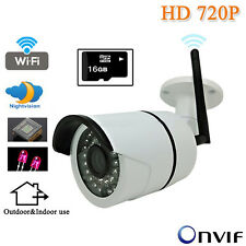 HD 720P Network CCTV Security IP Camera Wireless WiFi SD Slot IR Night Vision