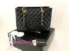 Authentic Chanel Black Caviar GST Grand Shopping Tote Bag GHW