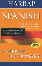 Harrap Spanish Paperback Dictionary,ACCEPTABLE Book