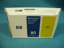 HP Genuine OEM 80 C4848A DJ 1000 Yellow Ink Cartridge New in Sealed Box 05SEP11