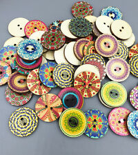 20pcs wooden buttons sewing scrapbook decorative pattern  Mixed pattern 25mm