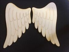 Large Pair of Lasercut Wooden Angel Wing Shapes, Crafts