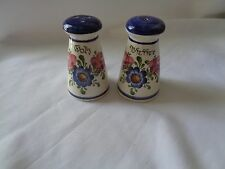 Wechsler Tirolkeramic Schwarz Austria Hand Painted Salt And Pepper Shaker