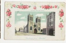 Cathedral From West Bristol 1920 De Adelaar Advert Postcard 109a