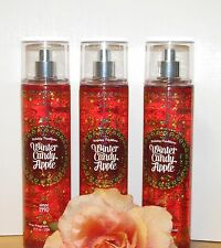 Lot of 3 Bath & Body Works spray mist  : WINTER Candy Apple