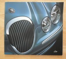 Jaguar s type orig uk 2000 marketing grand format prestige sales brochure-V6 se V8
