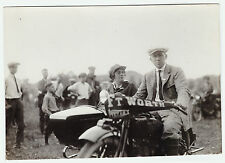 NICE  Orig Photo - Indian Motorcycle w sidecar ca 1920 Ft Worth Texas - Fort TX