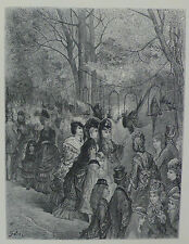Doré - London; 'Zoological Gardens - The Parrot' Walk, Wood Engraving, C.1870