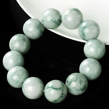 Natural Grade A Jade (jadeite) 18mm Green Bead Bracelet Blessing 20cm L