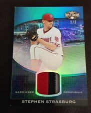 2011 TOPPS TRIPLE THREADS STEPHEN STRASBURG GU JERSEY PATCH 3/3 PARALLEL NICE