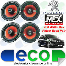 "Peugeot 207 2 x MTX 17cm 6.5"" 960 Watts 2 Way Front & Rear Door Car Speakers Kit"