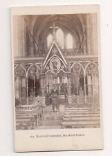 Vintage CDV Hereford Cathedral The Rood Screen England F. Bedford Photo