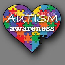 "Autism Awareness 6"" Puzzle Heart Decal Sticker Car Truck"