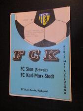 CALCIO DDR programma 05 FC Karl Marx città-FC Sion 1989 EC accaduti