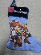 Blue Transformers Holiday Christmas Stocking BRAND NEW w/ Tag