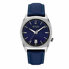 Bulova Men's 96B212 Accutron II Surveyor Blue Leather Strap Watch
