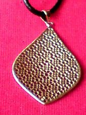 BRASS AUTHENTIC INDIAN FILIGREE TEARDROP SHAPED PENDANT 65mm.x40mm. £8.99 NWT